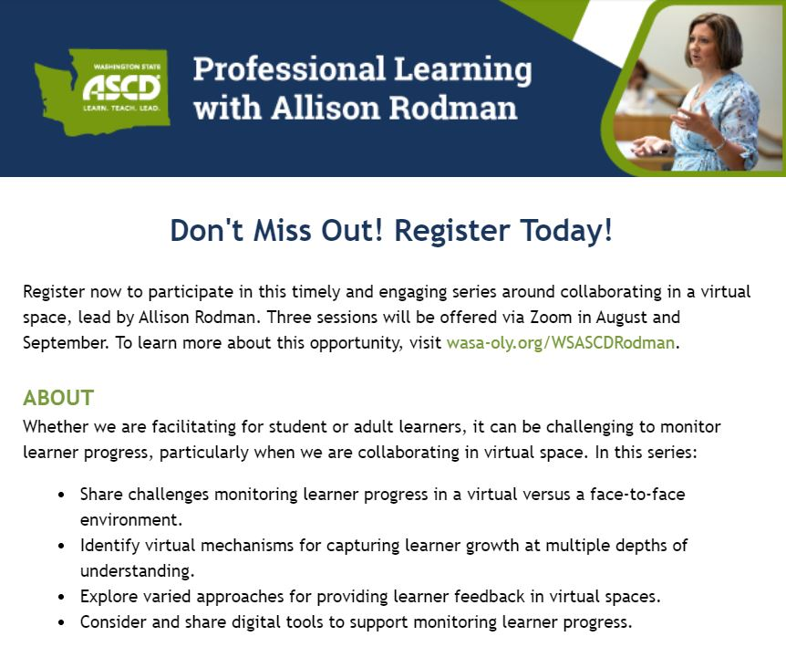 Allison Rodman @The Learning Loop